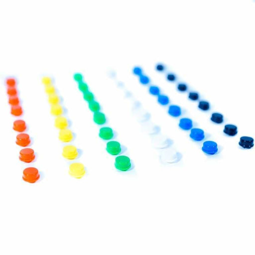 Multicolour Button Caps Pack For Makerbuino - Accessories And Breakout Boards