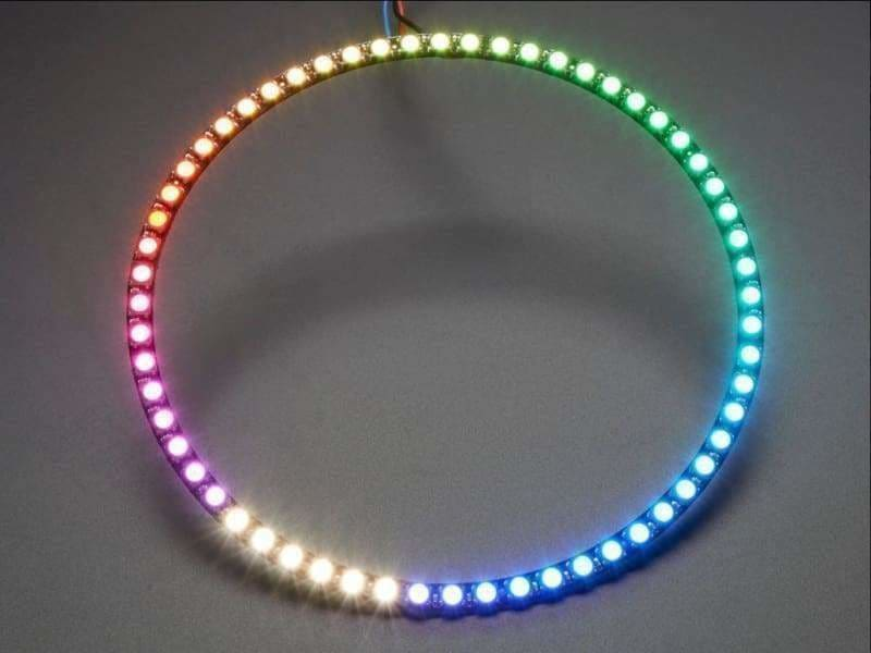 Neopixel 1/4 60 Ring - 5050 Rgbw Led W/ Integrated Drivers - Natural White - ~4500K (Id: 2874) - Leds