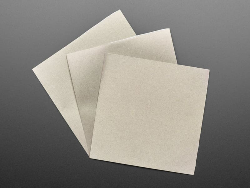 Nylon Fabric Squares with Conductive Adhesive (10cm x 10cm - 3 pack) - Component