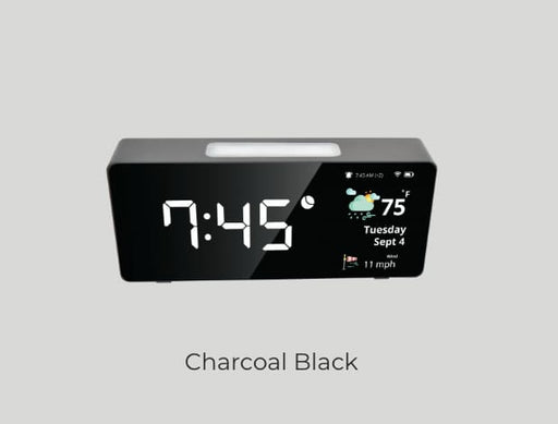 Oboo Smart Clock - Charcoal Black - Smart Home