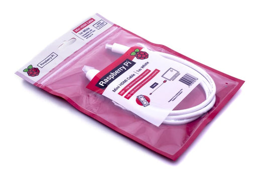Official Raspberry Pi Micro HDMI to HDMI-A Cable (White) - Raspberry Pi