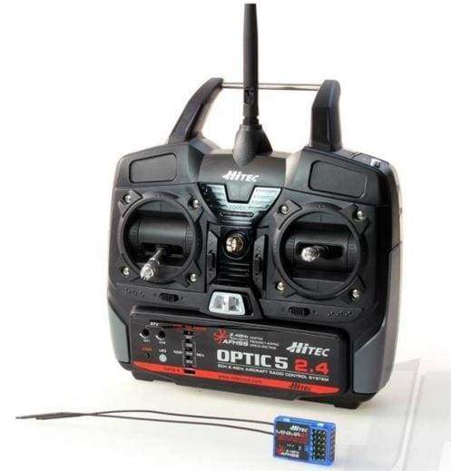 Optic 5 2.4GHz AFHSS Transmitter/Receiver Combo Mode 2 - Hardware