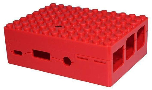 Pi-Blox Lego® Compatible Case For Raspberry Pi + Pi Camera - Red - Boxes