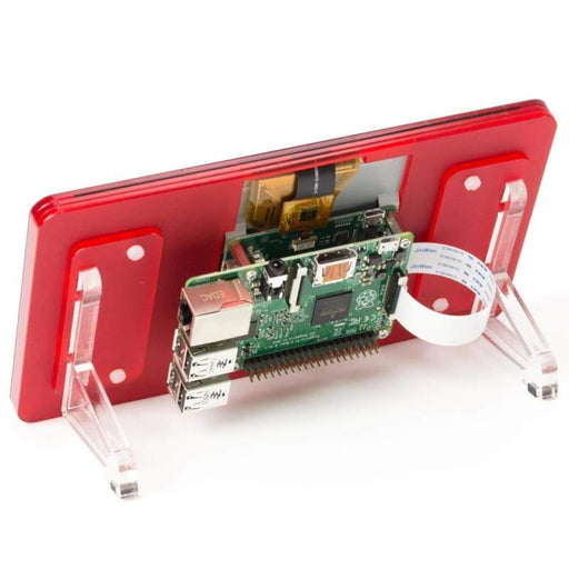 Pibow Touchscreen Frame - Coupé (Red) - Raspberry Pi