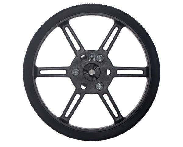 Pololu Multi-Hub Wheel W/inserts For 3Mm And 4Mm Shafts - 80×10Mm Black 2-Pack - Wheel