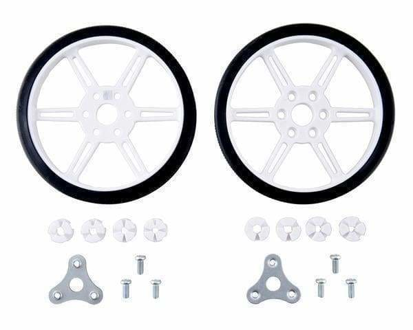 Pololu Multi-Hub Wheel W/inserts For 3Mm And 4Mm Shafts - 80×10Mm White 2-Pack - Wheel