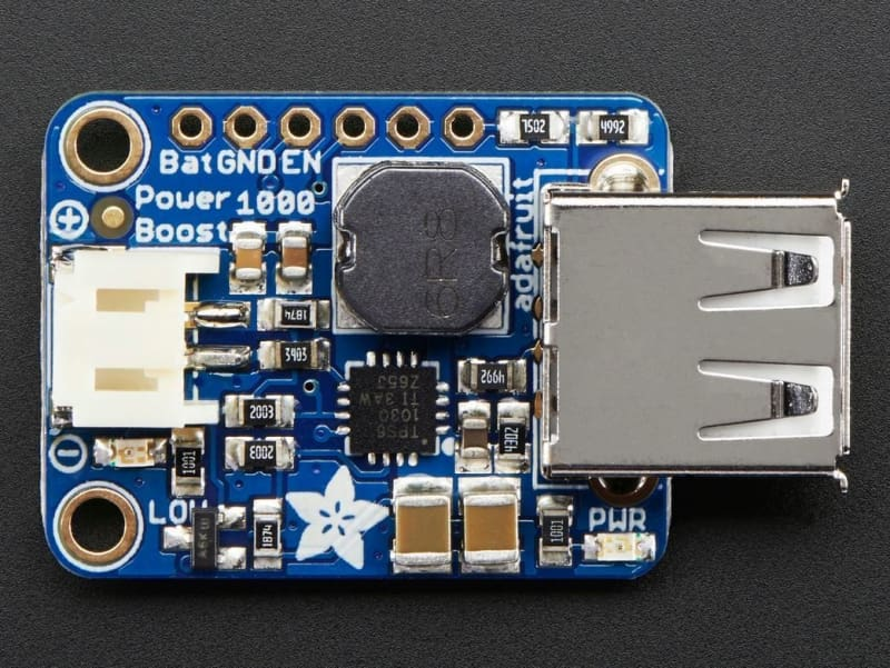 Powerboost 1000 Basic - 5V Usb Boost @ 1000Ma From 1.8V+ (Id: 2030) - Chargers