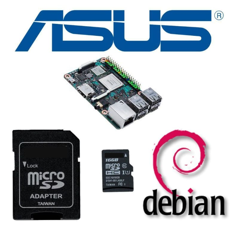 Pre-Loaded Debian Os 16Gb Microsd Card For Asus Tinker Board - Accessories And Breakout Boards