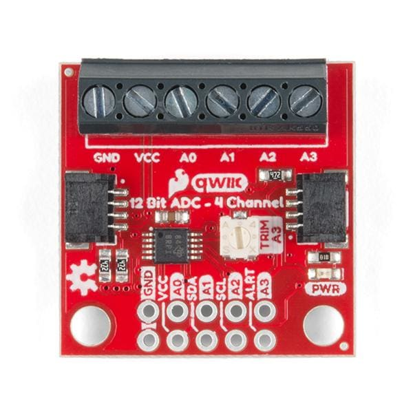 Qwiic 12 Bit ADC - 4 Channel (ADS1015) (DEV-15334) - Qwiic