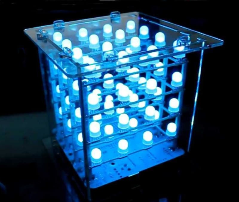 Rainbow Cube Kit RGB 4x4x4 - LED Displays