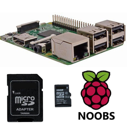 Raspberry Pi 3 Model B+ And 16Gb Sd Card With Noobs Os - Raspberry Pi Boards