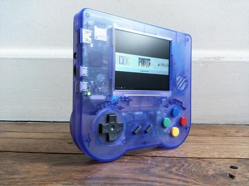 Raspiboy - Retro Handheld Game Console Kit - Transparent Purple - Raspberry Pi Kits