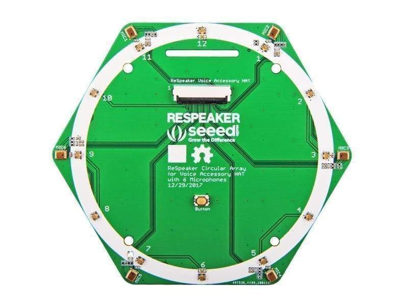 Respeaker 6-Mic Circular Array Kit For Raspberry Pi - Audio
