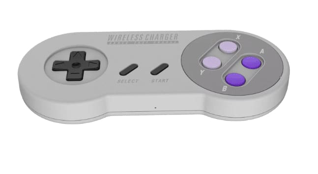 Retro Snes Classic Controller Style 10W Fast Wireless Charger Pad For Iphone X And Android Mobile Phone - Power