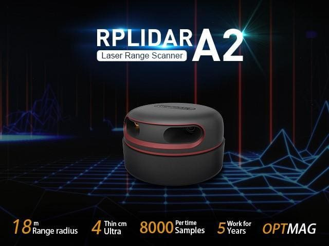 Rplidar A2M6 360 Degree Laser Scanner Kit - 18M Range - Infra Red
