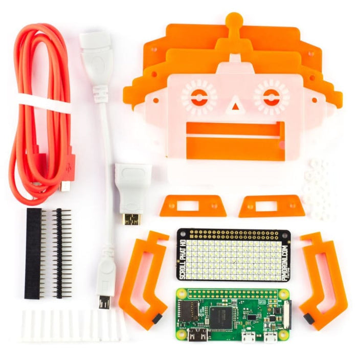 Scroll Bot - Pi Zero W Project Kit (includes Pi Zero W) - Raspberry Pi Kits