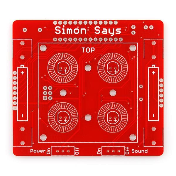 Simon Says - Through-Hole Soldering Kit (Kit-10547) - Kits