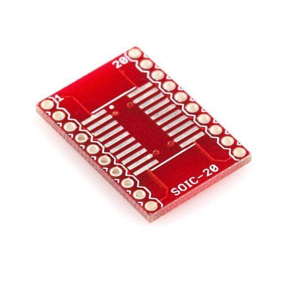 Soic To Dip Adapter 20-Pin (Bob-00495) - Breakout Boards