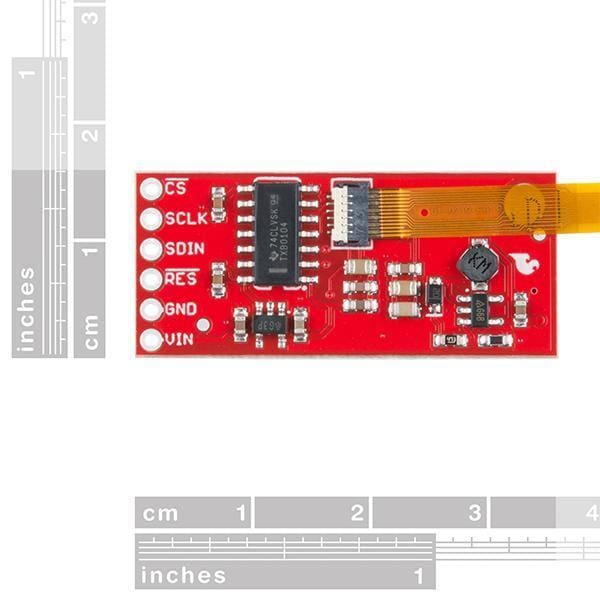 Sparkfun Flexible Grayscale Oled Breakout - 1.81 (Lcd-14606) - Oled Displays