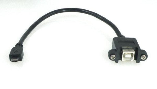 Teensy Usb Cable Micro-B To Standard-B Panel Mount Adaptor - Cables And Adapters
