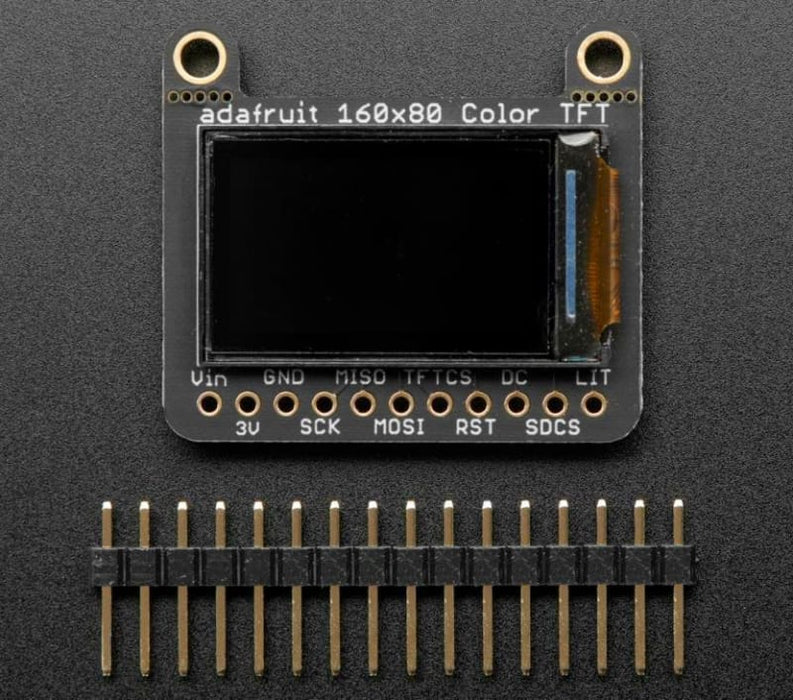 Tft Colour Display 0.96 160X80 W/ Microsd Card Breakout - St7735 (Id: 3533) - Lcd Displays