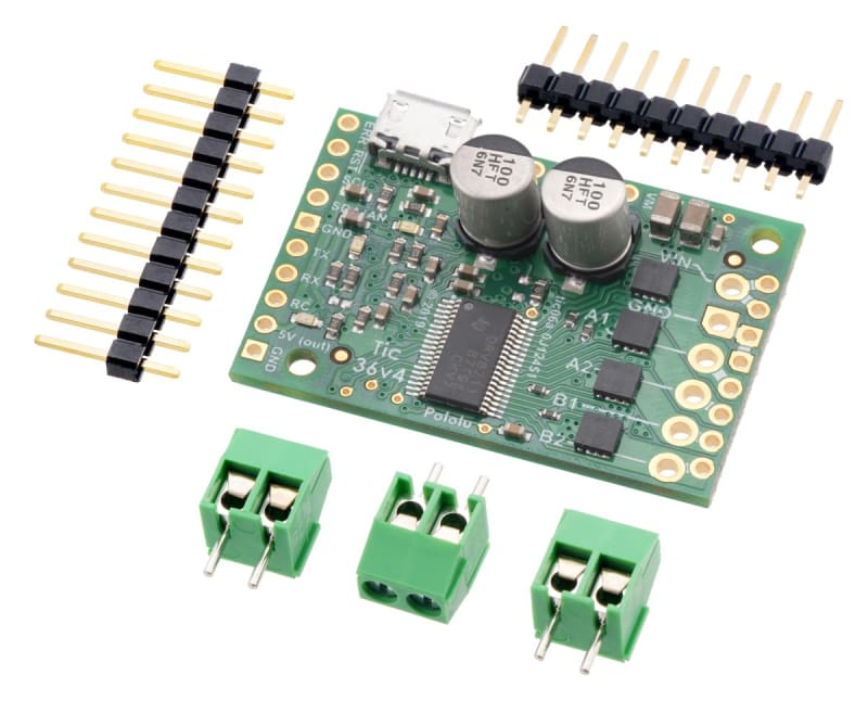 Tic 36v4 USB Multi-Interface High-Power Stepper Motor Controller - Motion Controllers