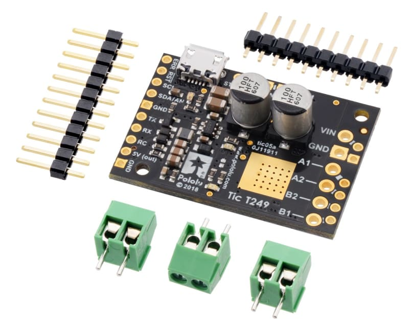 Tic T249 USB Multi-Interface Stepper Motor Controller - Motion Controllers