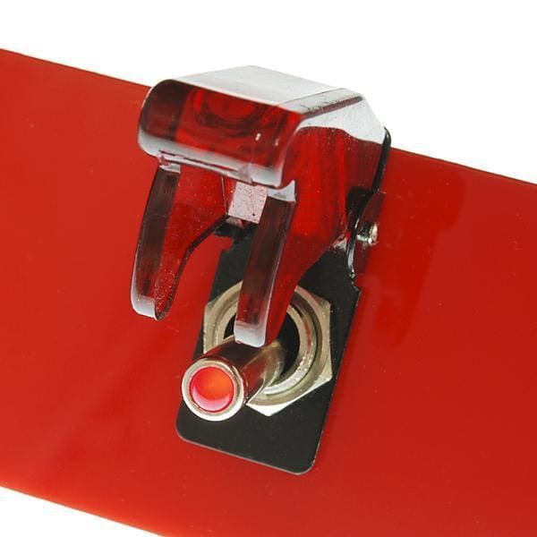 Toggle Switch And Cover - Illuminated (Red) (Com-11310) - Buttons