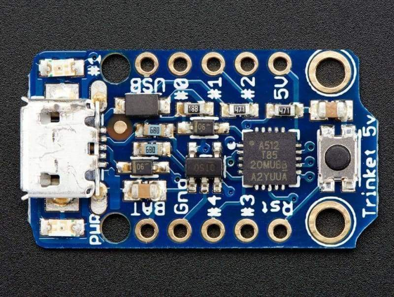 Trinket Mini Microcontroller - 5V (Id: 1501) - Derivative Boards