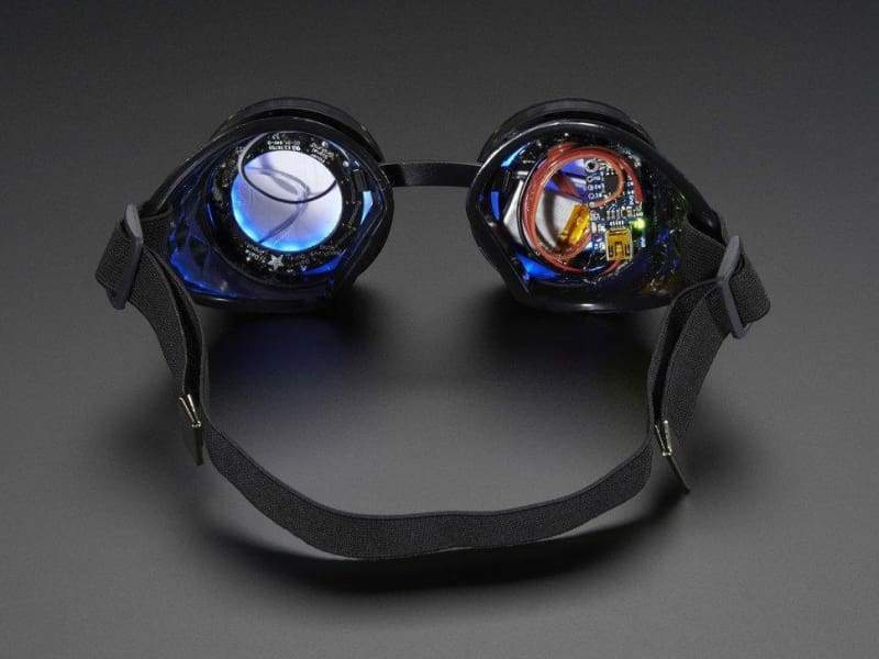 Trinket Powered Neopixel Goggle Kit (Id: 2221) - Kits