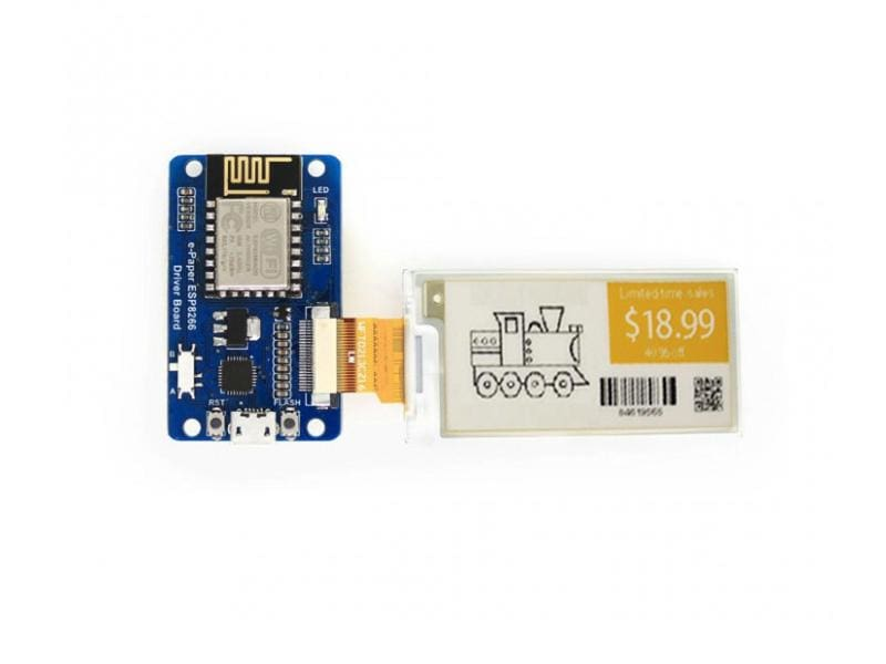 Universal E-Paper / E-Ink Raw Panel Driver Board Esp8266 Wifi Wireless - Led Displays