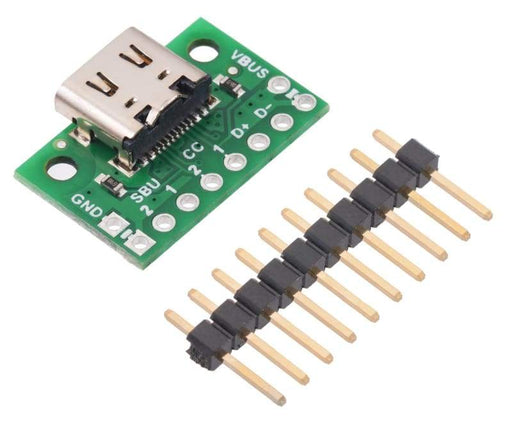 USB 2.0 Type-C Connector Breakout Board (usb07b) - Component