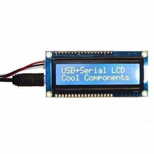 Usb + Serial Backpack Kit With 16X2 Rgb Backlight Negative Lcd (Id: 784) - Lcd Displays