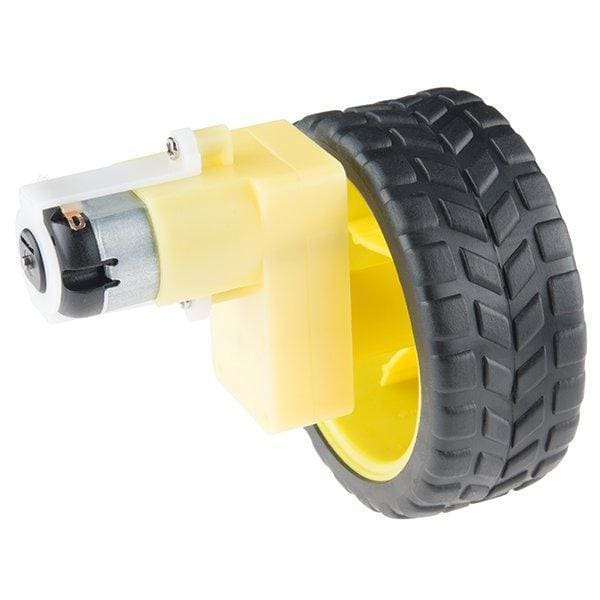 Wheel - 65Mm (Rubber Tire Pair) (Rob-13259) - Hardware