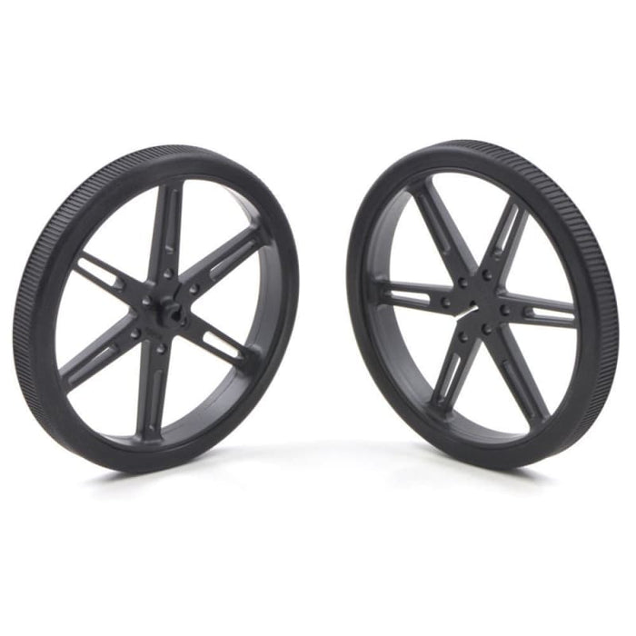 Wheel - 80X10Mm (Rubber Tire Pair) Black - Hardware