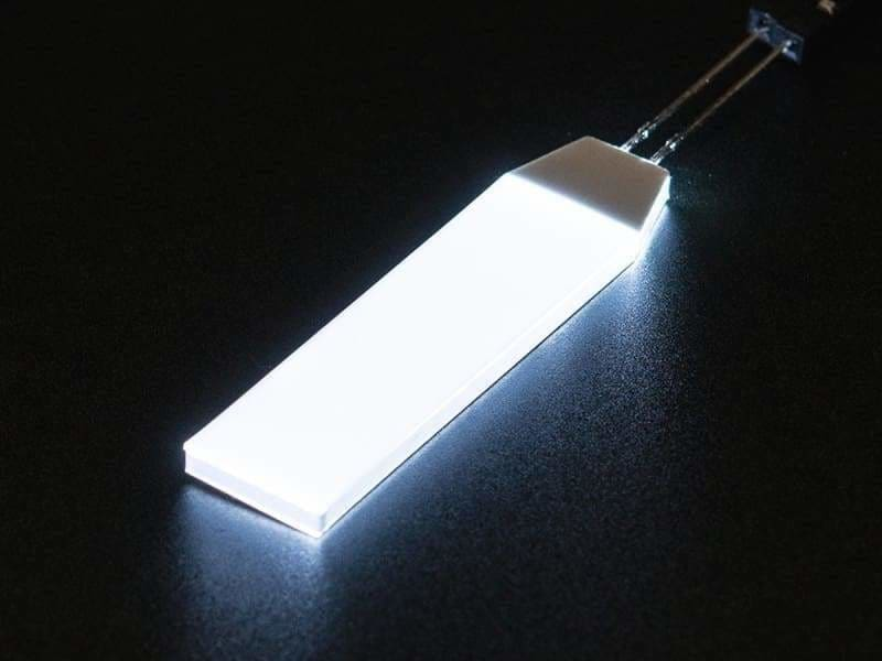 White Led Backlight Module - Small 12Mm X 40Mm - Leds