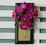 Artificial Hanging Violet Orchid Wall Frame
