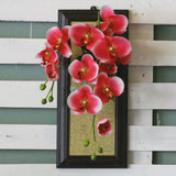 Artificial Hanging Orchid Wall Frame