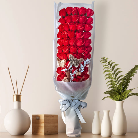 Red Roses Artificial Bouquet for gifting valentine gift