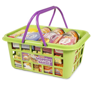 Shopping Basket with Toy Food