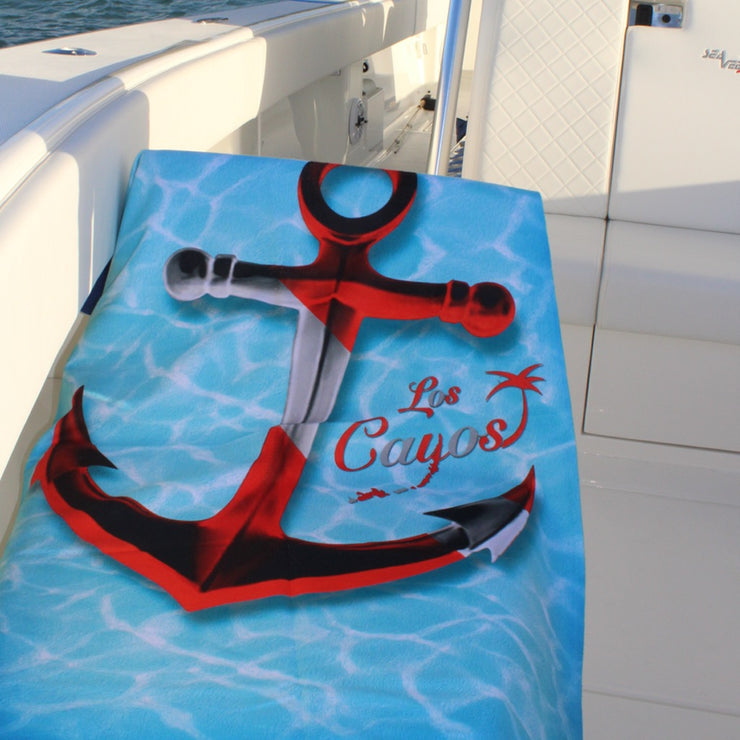 Beach Towel - Extra Large / Los Cayos Dive Anchor