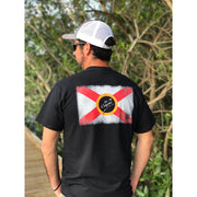 Florida Flag LCA Logo / Black - Mens - Short Sleeve Tee