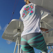 Tropical Wave Leggings - Full length