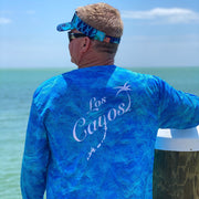 Ocean View Camo / Back Logo  - Quick Dry UPF 50+ Mens Long Sleeve