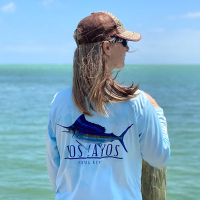 Sailfish / Blue - Quick Dry UPF 50+ Mens Long Sleeve