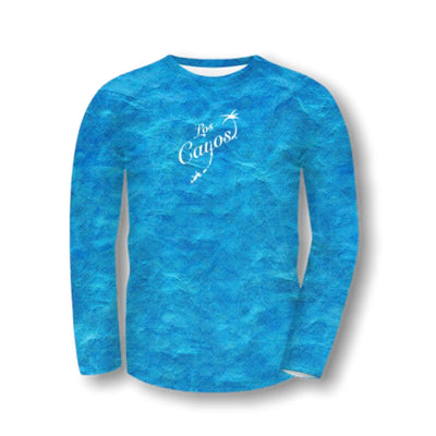 Ocean View Camo / Front Logo  - Quick Dry UPF 50+ Mens Long Sleeve