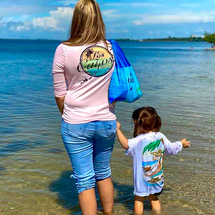 Compact Sustainable Cleanup Barrel Bag Benefitting Save-A-Turtle Florida Keys