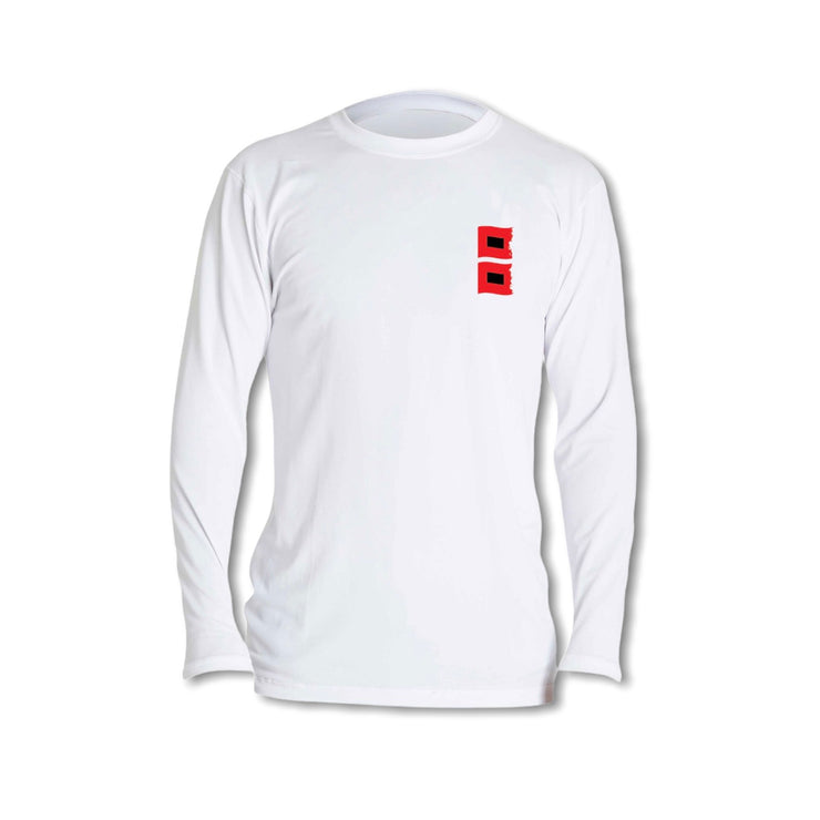 Hurricane Strong / White - Quick Dry UPF 30+ Mens Long Sleeve