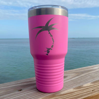 Stainless Steel Los Cayos Tumbler- Cotton Candy Pink