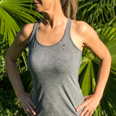 Palmap Racerback Tank - Ladies Grey